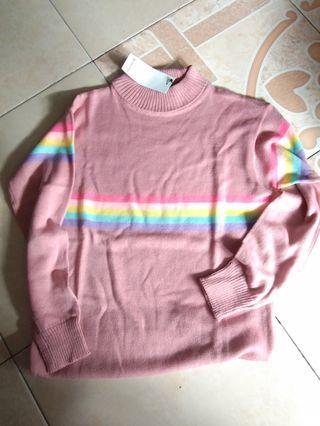 Sweater Rajut Pink NEW