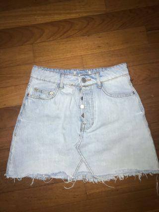 Light blue denim skirt, vintage Bershka collection