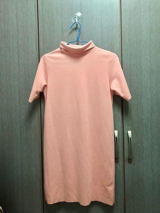 Light pink turtleneck dress