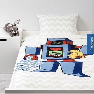IKEA Lattjo Quilt Cover and Pillowcase Set - Big Robot