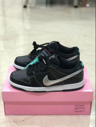Us 8 Nike Sb Diamond Dunk Black