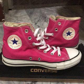 Converse All Star 桃紅色高筒帆布鞋