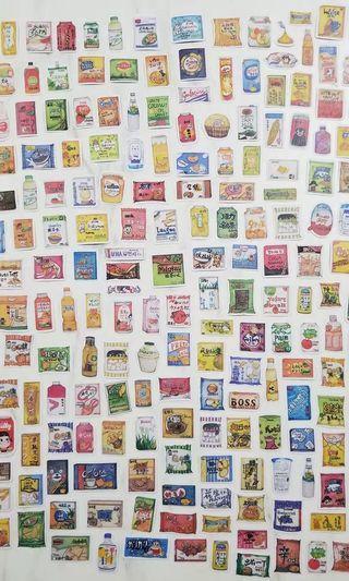 🚚 懷舊 零食 雜貨 貼紙 硫酸紙貼紙 230張