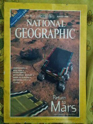 National Geographic Magazine, Aug 1998