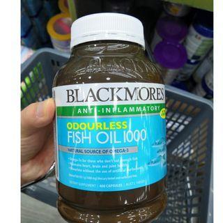 BLACKMORES - 無腥味魚油1000 400粒