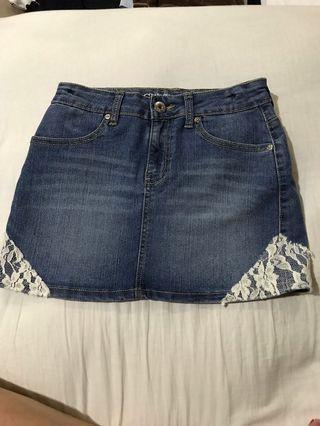 Guess jean skirt