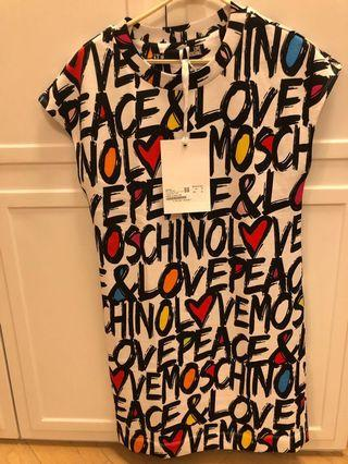 Love Moschino white pullover dress