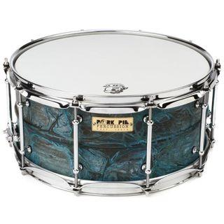 CLEARANCE SALE-6.5 x 14 USA Custom Snare Patina Brass by PORK PIE PERCUSSION