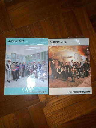 WTS WANNAONE POWER OF DESTINY UNSEALED ALBUMS (BOTH VERSIONS)