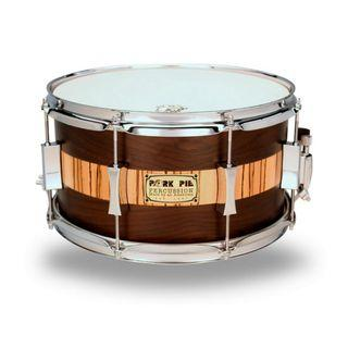 CLEARANCE SALE-14 X 6.5 USA CUSTOM SNARE ROSEWOOD ZEBRAWOOD by PORK PIE PERCUSSION