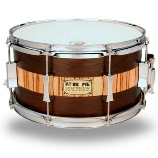 CLEARANCE SALE-7x13 USA CUSTOM SNARE ROSEWOOD ZEBRAWOOD BY PORK PIE PERCUSSION