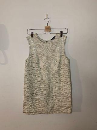 🚚 正式場和連身短洋裝 氣質款洋裝 刺繡洋裝 L1