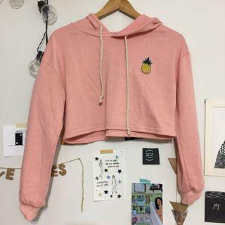 cropped pineapple hoodie
