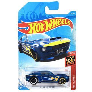Hot Wheels 2 Hw Flames 67 Shelby GT-500 33/250 10/10[Blue]