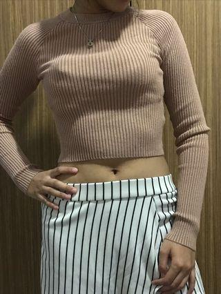 H&M nude knit