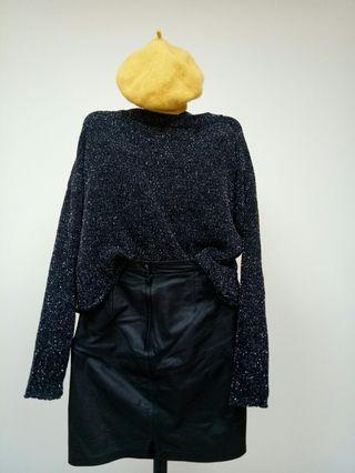 閃亮亮黑色毛衣
