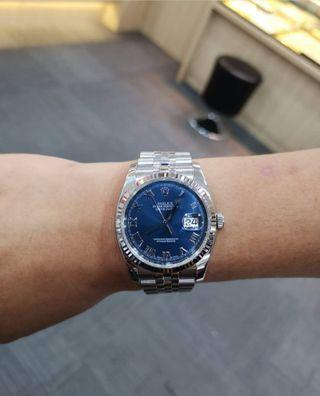 Rolex datejust oyster perpetual 116234 blue roman Dial