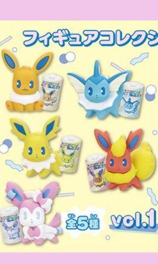 Pokemon Mix Au Lait Eevee Series Gashapon Toy