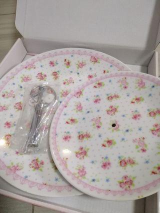 Ashlyn Anne 2 tier cake dessert stand /plate glassware