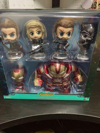 Hot toys 全新 hottoys avengers set of 6 個公仔 美國隊長 Ironman Thor 黑豹 black widow hulkbuster
