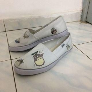 Customized Decoupage Totoro Sneakers