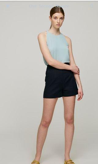 🚚 Our Second Nature High Waisted Linen Shorts (Size: S)