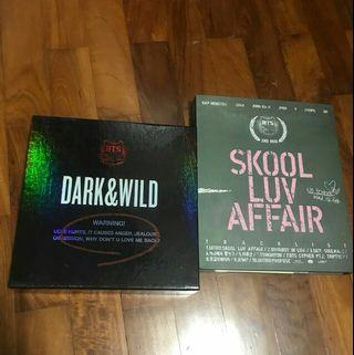 BTS DARK & WILD AND SKOOL LUV AFFAIR ALBUMS