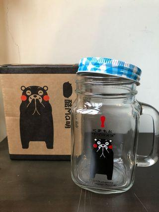 熊本熊玻璃杯罐