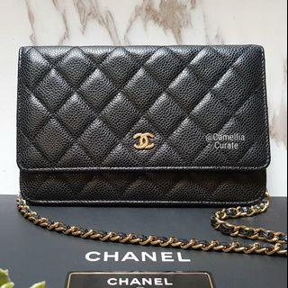 CHANEL Wallet on Chain Black with gold hardware