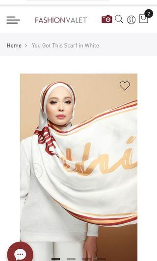 You Got This dUCk shawl in white (free postage)