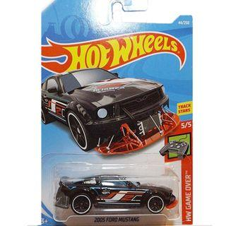 Hot Wheels 2005 Ford Mustang HW Game Over 44/250 ,5/5 track stars new black