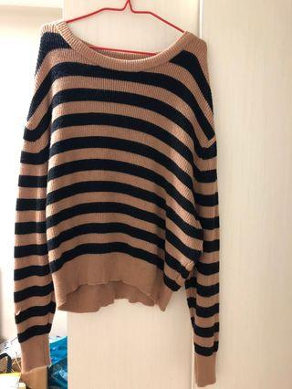ZARA KNITTED STRIPES PULLOVER