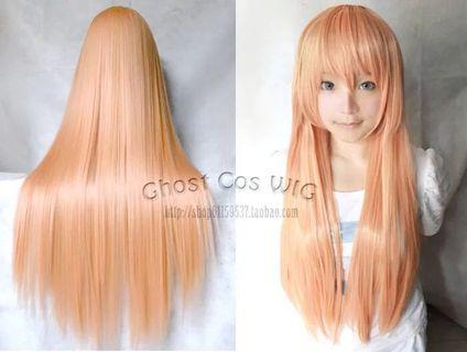 金粉色假髮 80Cm 全新未修剪過