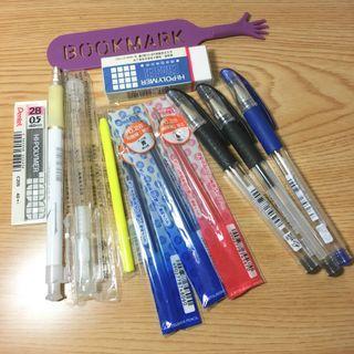 多樣文具 原子筆 筆芯 自動鉛筆 2B 筆芯 橡皮擦 書籤 螢光蠟筆