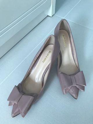Dirty pink high heels 粉紅氣質OL高跟鞋
