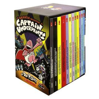 The Gigantic Collection of Captain Underpants by Dav Pilkey (12 Books)
