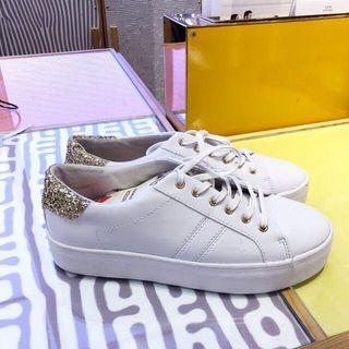 Pull&Bear White Gold Sneakers Shoes