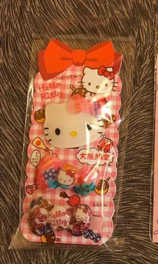 Hello Kitty 大阪限定 紮辮夾夾 用品