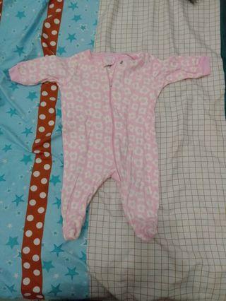 SLEEPSUIT JUMPER BABY BAYI NEWBORN PINK CEWEK