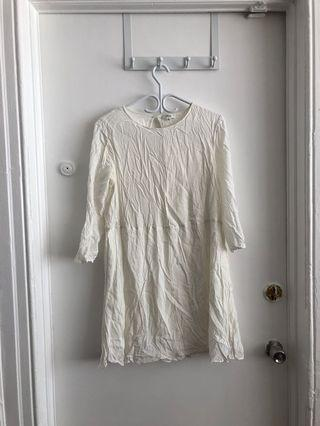WILFRED WHITE DRESS W/ POCKETS SZ MED