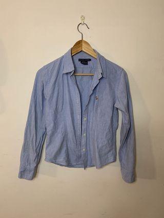 🚚 Ralph Lauren 牛仔襯衫 polo女生牛仔襯衫 w1
