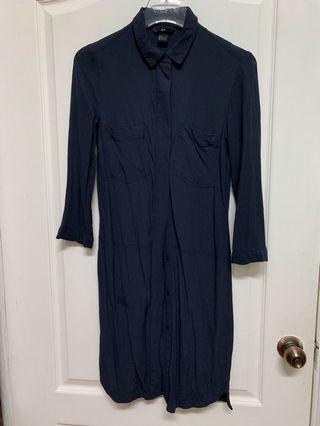 H&M shirt dress navy blue