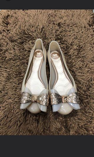 Melissa & Zaxy ribbon jelly shoes US6/EU37