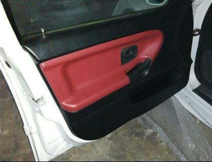 BMW E36 custom wrap leather door panels
