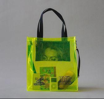 Neon Transparent Tote Bag