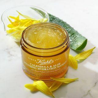 🚚 Kiehls Calendula & Aloe soothing hydration mask 100ML (80% left) - for all skin types