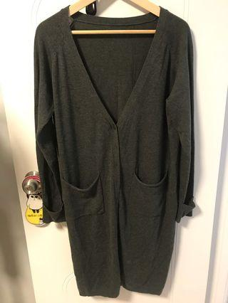 Korean 🇰🇷 green long cardigan 韓國綠色長外套