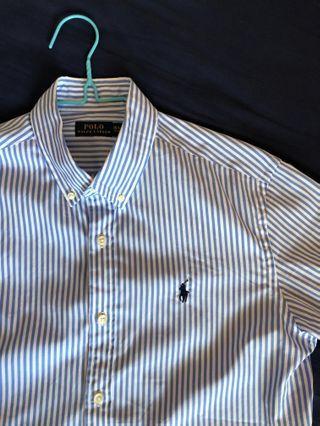 🚚 Polo Ralph Lauren light blue striped shirt