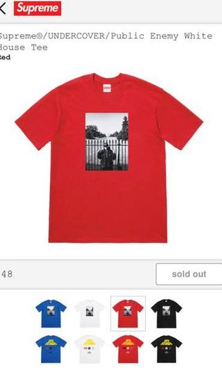 968c4bf7f3a8 Supreme UNDERCOVER/Public Enemy White House Tee, Men's Fashion, Clothes,  Tops on Carousell