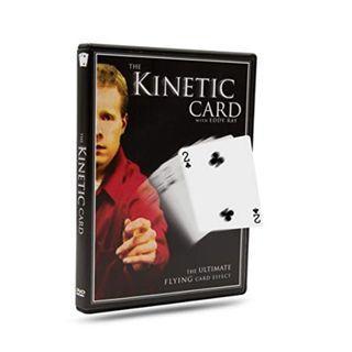 Flying kinetic card magic trick